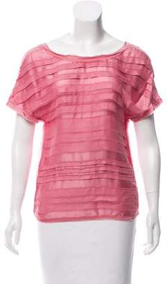 Chanel Tiered Raw-Edge Top