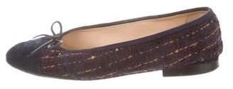 Chanel Woven Cap-Toe Flats