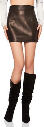 Saint Laurent Classic Vintage Leather Mini Skirt