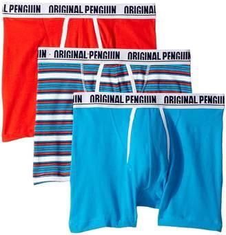 Original Penguin Novelty 3-Pack Boxer Brief - Red Soda Stripe Men's Underwear