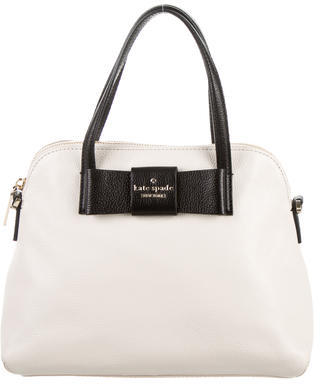 Kate Spade New York Leather Bow Satchel $125 thestylecure.com