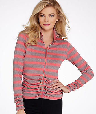 Calvin Klein Performance Striped Ruched Jacket, Activewear - Women's