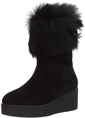 Aquatalia Women's VALLAINE Suede/Shearling Boot