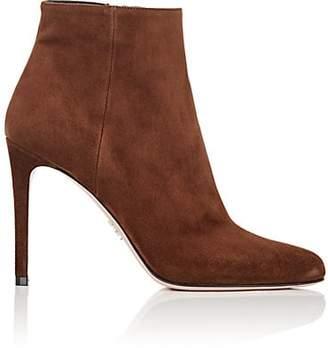 Prada Women's Suede Ankle Boots - Bruciato