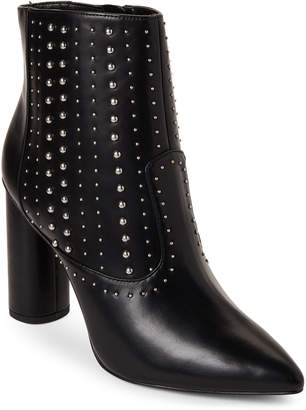 BCBGeneration Black Hollis Studded Pointed Toe Booties