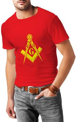 lepni.me T shirts for men Masonic Clothing Freemason Square and Compass Logo A Great Birthday gift, Valentine for Husbands, Boyfriends, Dads, Brothers ( White Black)