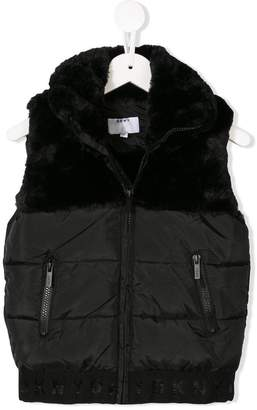 DKNY faux fur detail padded vest