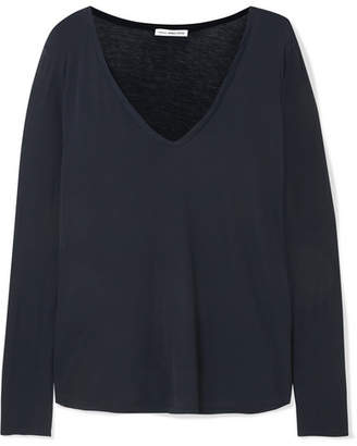 James Perse Heather Cotton-jersey Top - Navy