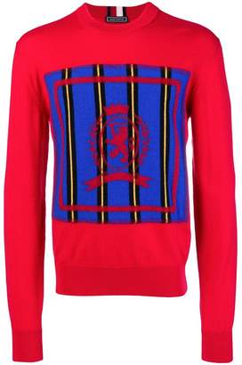 Tommy Hilfiger logo colour-block sweater