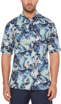 Cubavera Tropical Jungle Print Shirt