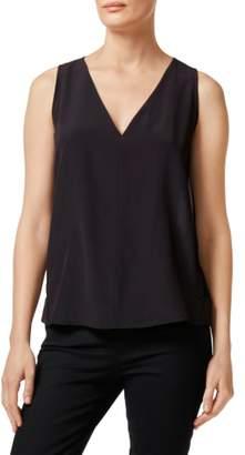 J Brand Christina Pleated Back Silk Top
