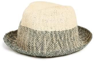 c183421e Paul Smith Two Tone Straw Trilby Hat