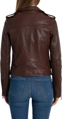 Bagatelle Vintage Wash Lamb Leather Biker Jacket
