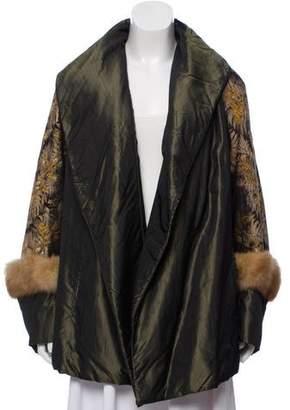 Blumarine Fur-Trimmed Embroidered Jacket
