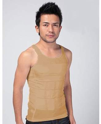 Muzza Inc Men's Stretchy High-Quality Top Compression Slimming Undershirt Body Shaper