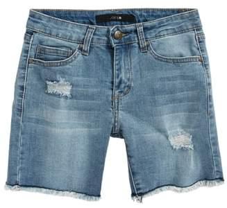 Joe's Jeans Frayed Mid Rise Bermuda Denim Shorts