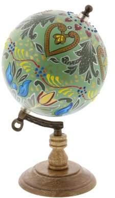 DecMode Decmode Modern 9 Inch Metal And Wood Decorative Lattice Globe, Multicolor