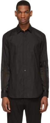 Ann Demeulemeester Black Cotone/Pace Shirt
