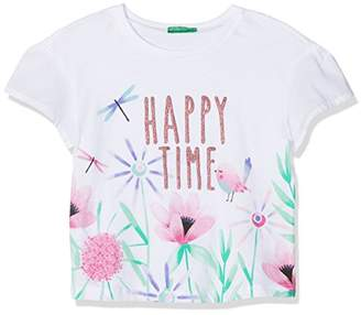 Benetton Girl's T-Shirt,(Manufacturer Size: XX)