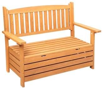 Wooden Outdoor Storage Bench