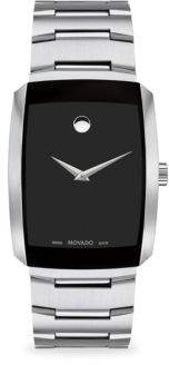 Movado Eliro Rectangular Stainless Steel Bracelet Watch
