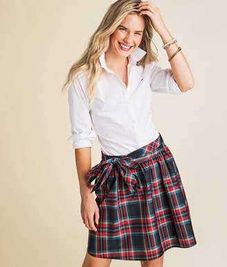 Vineyard Vines Jolly Plaid Taffeta Party Skirt