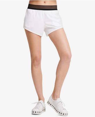 DKNY Sport Shadow-Waistband Running Shorts