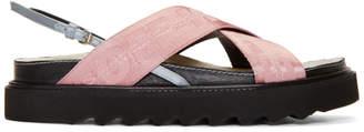 Pink Industrial Belt Sandals