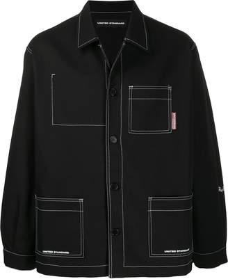 United Standard contrast stitching shirt jacket