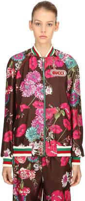 Gucci Reversible Bouquet Twill Bomber Jacket