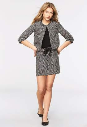 Milly Minis MillyMilly Sparkle Tweed Tie Front Skirt
