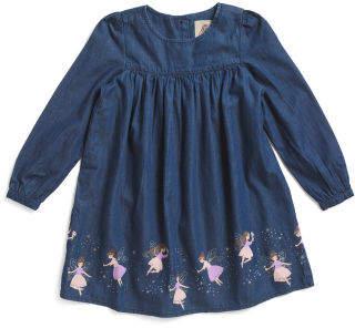 Toddler Girls Whimsical Fairy Denim Dress