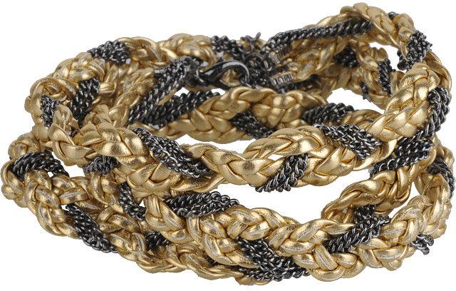 Chain Braided Wrap Bracelet