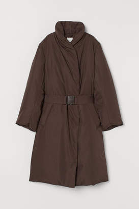 H&M Down Coat with Belt