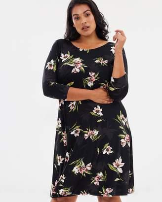 Evans Tropics Floral Dress