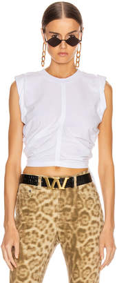 Alexander Wang High Twist Crop Top with Ties in White | FWRD
