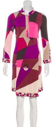 Emilio Pucci Abstract Print Long Sleeve Dress