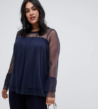 Junarose Sheer Layered Smock Top