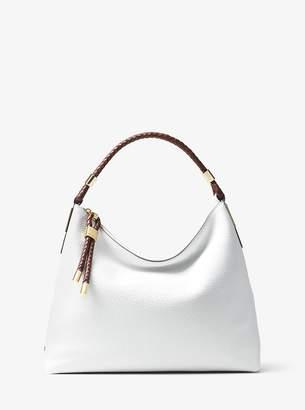 Michael Kors Skorpios Large Pebbled Leather Shoulder Bag
