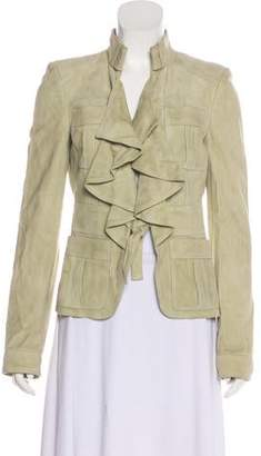 Gucci Suede Ruche-Accented Jacket w/ Tags