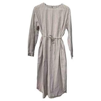 BEIGE Non Signé / Unsigned Non Signe / Unsigned Cotton Dress for Women
