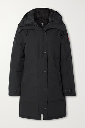 Canada Goose Shelburne Hooded Quilted Shell Down Parka - Black