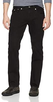True Religion Men's Straight Jean Flap Back Pockets