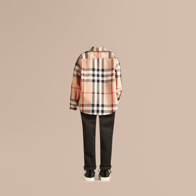 Burberry Check Cotton Button-down Shirt 9