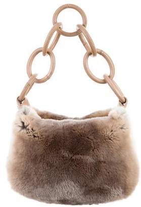 Chanel Leather-Trimmed Fur Hobo Leather-Trimmed Fur Hobo
