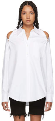 Alexander Wang White Shoulder Zippers Shirt