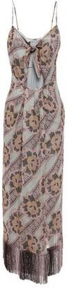 Anna Sui Fringed Cutout Floral-print Silk-georgette Maxi Dress