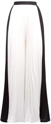 Self-Portrait Pleated Wide Leg Trousers