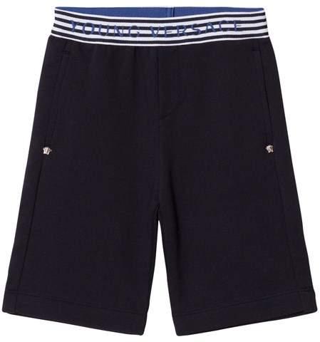 Navy Branded Waist Sweat Shorts