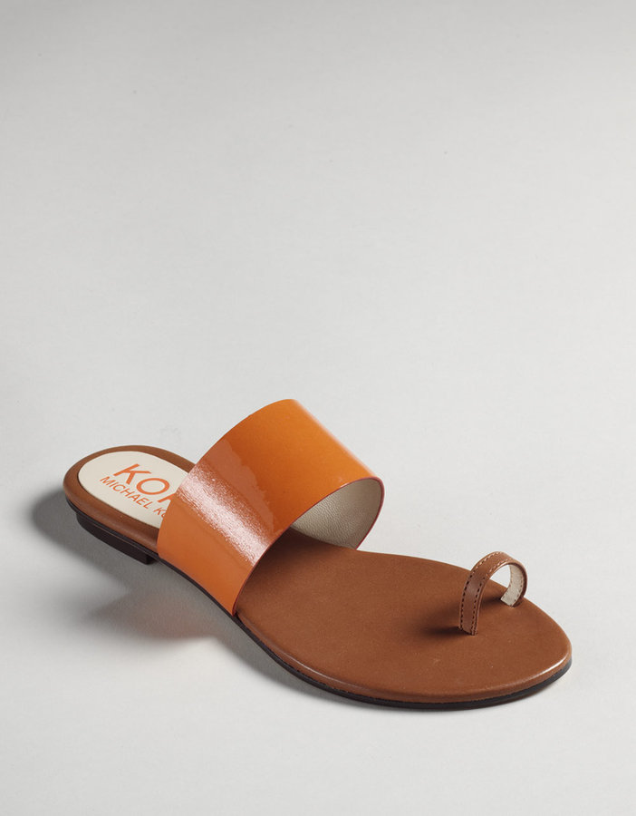 KORS MICHAEL KORS Zen Toe-Ring Flat Sandals